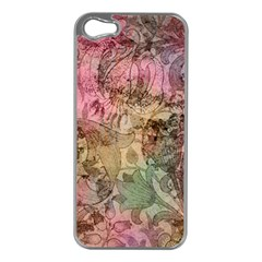 Texture Background Spring Colorful Apple Iphone 5 Case (silver)