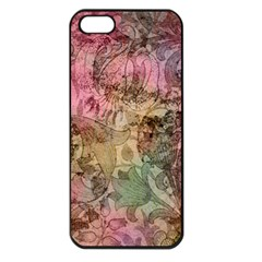 Texture Background Spring Colorful Apple Iphone 5 Seamless Case (black)