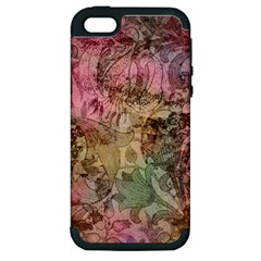 Texture Background Spring Colorful Apple Iphone 5 Hardshell Case (pc+silicone)