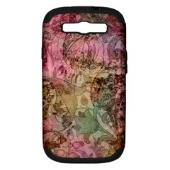 Texture Background Spring Colorful Samsung Galaxy S Iii Hardshell Case (pc+silicone)