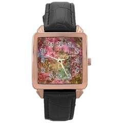 Texture Background Spring Colorful Rose Gold Leather Watch