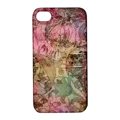 Texture Background Spring Colorful Apple Iphone 4/4s Hardshell Case With Stand
