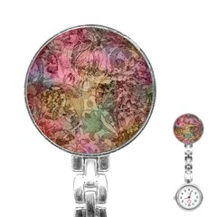 Texture Background Spring Colorful Stainless Steel Nurses Watch
