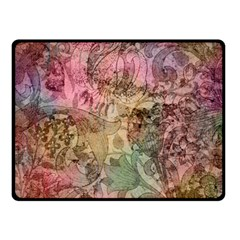 Texture Background Spring Colorful Double Sided Fleece Blanket (small)