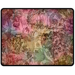 Texture Background Spring Colorful Double Sided Fleece Blanket (medium)