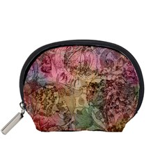 Texture Background Spring Colorful Accessory Pouches (small)