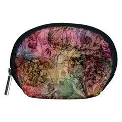 Texture Background Spring Colorful Accessory Pouches (medium)