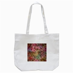 Texture Background Spring Colorful Tote Bag (white)