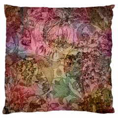 Texture Background Spring Colorful Large Flano Cushion Case (one Side)