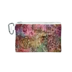 Texture Background Spring Colorful Canvas Cosmetic Bag (s)
