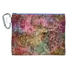 Texture Background Spring Colorful Canvas Cosmetic Bag (xxl)