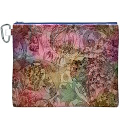 Texture Background Spring Colorful Canvas Cosmetic Bag (xxxl)