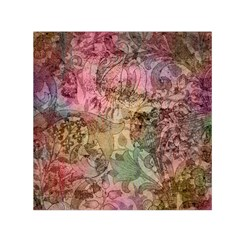 Texture Background Spring Colorful Small Satin Scarf (square)