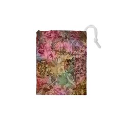 Texture Background Spring Colorful Drawstring Pouches (xs)