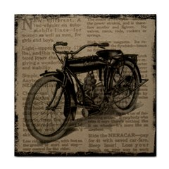 Vintage Collage Motorcycle Indian Tile Coasters