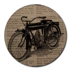 Vintage Collage Motorcycle Indian Round Mousepads
