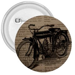 Vintage Collage Motorcycle Indian 3  Buttons
