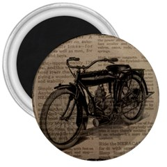 Vintage Collage Motorcycle Indian 3  Magnets