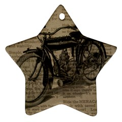 Vintage Collage Motorcycle Indian Ornament (star)