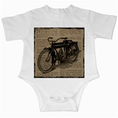 Vintage Collage Motorcycle Indian Infant Creepers