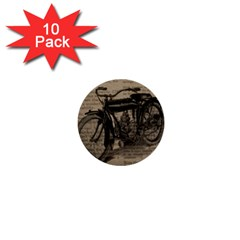 Vintage Collage Motorcycle Indian 1  Mini Buttons (10 Pack)