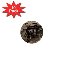 Vintage Collage Motorcycle Indian 1  Mini Magnet (10 Pack)
