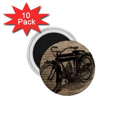 Vintage Collage Motorcycle Indian 1 75  Magnets (10 Pack)
