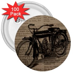 Vintage Collage Motorcycle Indian 3  Buttons (100 Pack)