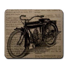Vintage Collage Motorcycle Indian Large Mousepads