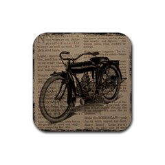 Vintage Collage Motorcycle Indian Rubber Coaster (square)