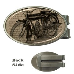Vintage Collage Motorcycle Indian Money Clips (oval)
