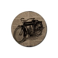 Vintage Collage Motorcycle Indian Rubber Coaster (Round)