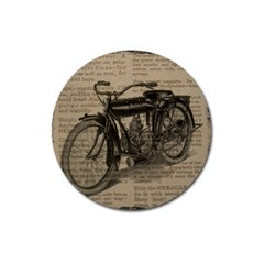Vintage Collage Motorcycle Indian Magnet 3  (round)