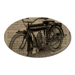 Vintage Collage Motorcycle Indian Oval Magnet