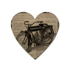 Vintage Collage Motorcycle Indian Heart Magnet