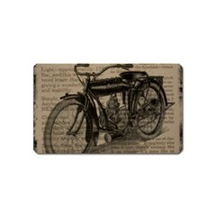 Vintage Collage Motorcycle Indian Magnet (name Card)