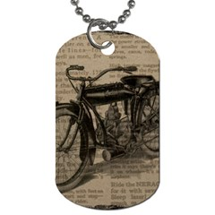 Vintage Collage Motorcycle Indian Dog Tag (one Side)
