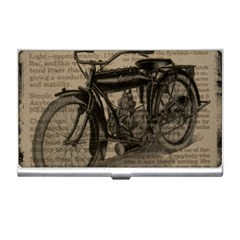 Vintage Collage Motorcycle Indian Business Card Holders