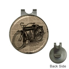 Vintage Collage Motorcycle Indian Hat Clips With Golf Markers