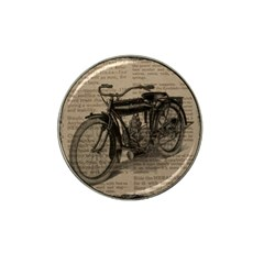 Vintage Collage Motorcycle Indian Hat Clip Ball Marker (4 Pack)