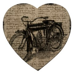 Vintage Collage Motorcycle Indian Jigsaw Puzzle (heart)