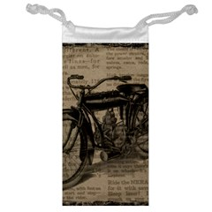 Vintage Collage Motorcycle Indian Jewelry Bag