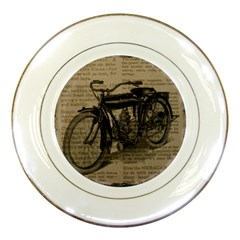 Vintage Collage Motorcycle Indian Porcelain Plates