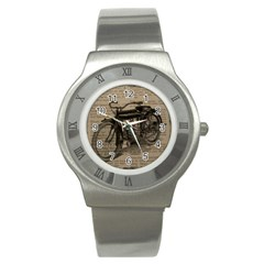 Vintage Collage Motorcycle Indian Stainless Steel Watch
