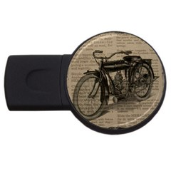 Vintage Collage Motorcycle Indian Usb Flash Drive Round (4 Gb)