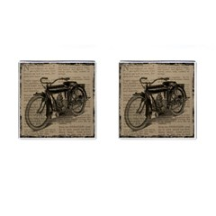 Vintage Collage Motorcycle Indian Cufflinks (square)