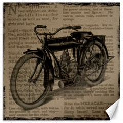 Vintage Collage Motorcycle Indian Canvas 16  X 16