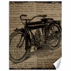 Vintage Collage Motorcycle Indian Canvas 18  X 24