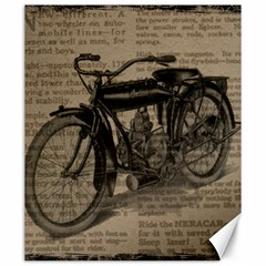 Vintage Collage Motorcycle Indian Canvas 20  X 24