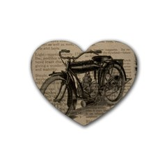 Vintage Collage Motorcycle Indian Heart Coaster (4 Pack)